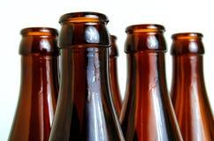 Glass bottles for industrial utilization. Empty glass bottles for industrial disposal Stock Image