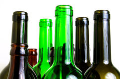 Glass bottles for industrial utilization. Royalty Free Stock Image