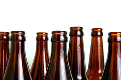 Glass bottles for industrial utilization. Empty glass bottles for industrial disposal Stock Photo