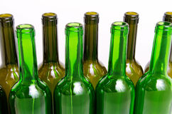 Glass bottles for industrial utilization. Royalty Free Stock Photos