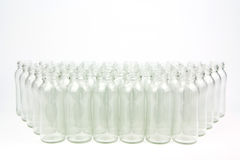 Glass bottles isolated Royalty Free Stock Photo