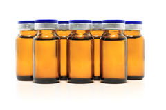 Glass bottles and medicine Royalty Free Stock Photo