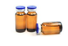 Glass bottles with medicine Stock Images