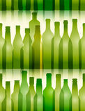 Glass bottles seamless background. Green glass bottles seamless background Stock Images