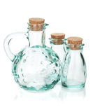 Glass bottles for seasoning Stock Image