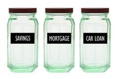 Glass Bottles Stock Image
