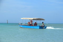 Glass Bottom Boat Andaman Sea. Stock Photos