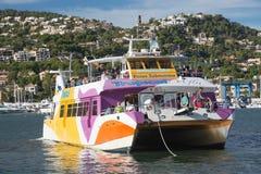 Glass bottom boat in Puerto Andratx Stock Photography