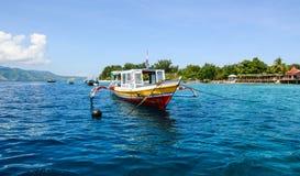 Glass bottom boat on the sea in Gili Meno island, Indonesia Royalty Free Stock Image
