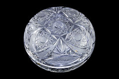 Glass bowl. From ground glass stock photography