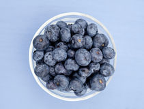 Glass Bowl with Blueberry Stock Image