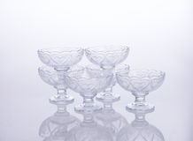glass bowl or crystal glass bowl on background. Royalty Free Stock Photos