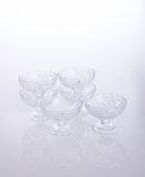 glass bowl or crystal glass bowl on background. Stock Photo