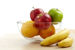 Glass bowl with fruit for diet Royalty Free Stock Photography