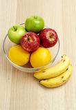 Glass bowl with fruit for diet Stock Photos