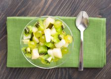 Glass bowl with fruits Royalty Free Stock Photography