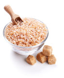 Glass bowl full of caramelized sugar crystals Royalty Free Stock Image