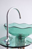 Glass bowl hand wash basin Stock Photo
