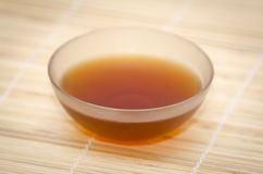 Glass bowl with indian black tea Royalty Free Stock Image