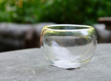 Glass bowl for puer tea Royalty Free Stock Photos