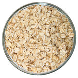 Glass Bowl of Raw Oats royalty free stock images
