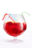 Glass bowl of red punch Royalty Free Stock Photos