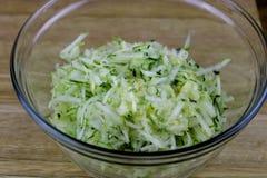 Shredded Zucchini royalty free stock photo