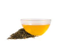 Glass bowl of tea isolated Stock Images