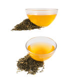 Glass bowl of tea isolated Stock Photo