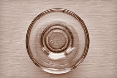 Glass bowl vintage style Stock Image