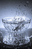 Glass Bowl and water Stock Images