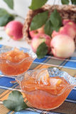 Glass bowls with apple jam Stock Photography