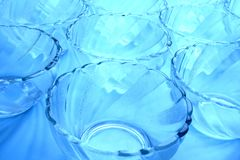 Glass bowls pattern Stock Photo