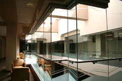 Glass Box. Inside of a student union building Royalty Free Stock Photo