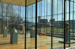 Glass Box at the Cleveland Museum of Art Stock Image