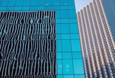 Glass box office buildings. Detail shot of glass box office buildings Royalty Free Stock Image