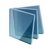 Glass boxes. Helix shape composed by glass boxes Royalty Free Stock Photography