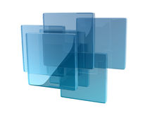 Glass boxes. Helix shape composed by glass boxes Royalty Free Stock Photos