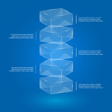 Glass boxes infographic vector illustration
