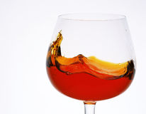 A glass of brandy Stock Image