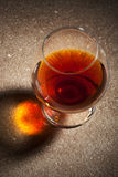 A glass of brandy Royalty Free Stock Photos