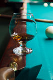 A glass of brandy Royalty Free Stock Photo