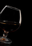 Glass of brandy Royalty Free Stock Image