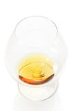 Glass of brandy above view Royalty Free Stock Photo