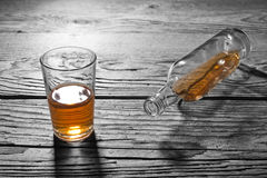 Glass of brandy Stock Photography