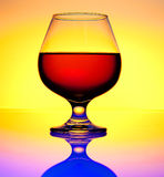 Glass brandy. And cognac, beverages industrie stock photos