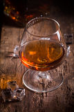 Glass of brandy or cognac Royalty Free Stock Images