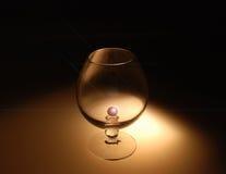 Glass for brandy Stock Photo