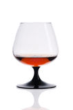 Glass brandy  on white background Royalty Free Stock Photography