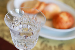 Glass and bread royalty free stock photos